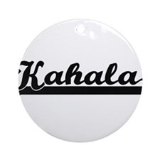 Kahala Classic Retro Design Ornament (Round)