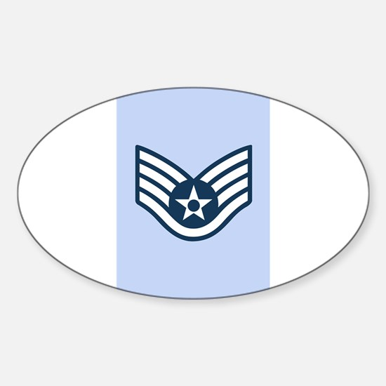 Cute Air force ssgt Sticker (Oval)