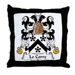LeCorre Family Crest  Throw Pillow