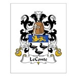 LeConte Family Crest  Small Poster