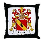 Lebon Family Crest  Throw Pillow