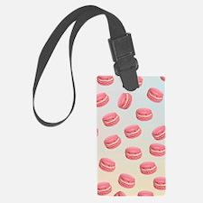 Pink macaroon graphic Luggage Tag