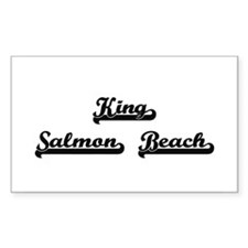 King Salmon Beach Classic Retro Design Decal