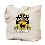 LeBeuf Family Crest  Tote Bag