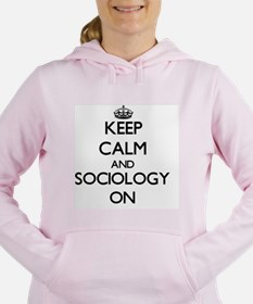 Keep Calm and Sociology Women's Hooded Sweatshirt