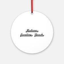 Makena Landing Beach Classic Retr Ornament (Round)
