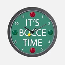 Green Bocce Ball Clock