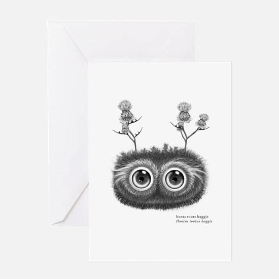 Hoots Toots Haggis. Latin Greeting Cards