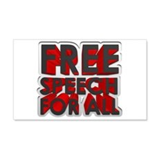 Free Speech For All Wall Decal