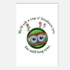 Hoots Toots Haggis. Auld Lang Syne Postcards (Pack