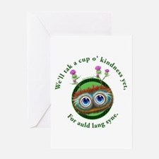 Hoots Toots Haggis. Auld Lang Syne Greeting Cards