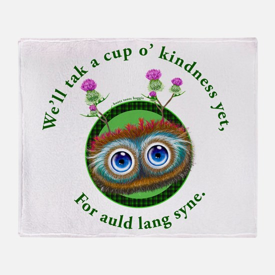 Hoots Toots Haggis. Auld Lang Syne Throw Blanket