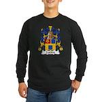 Lattre Family Crest Long Sleeve Dark T-Shirt