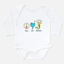Cute Ariel Long Sleeve Infant Bodysuit