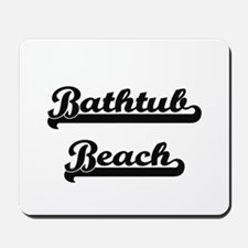 Bathtub Beach Classic Retro Design Mousepad