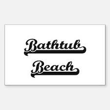 Bathtub Beach Classic Retro Design Decal