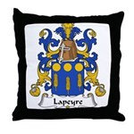 Lapeyre Family Crest Throw Pillow