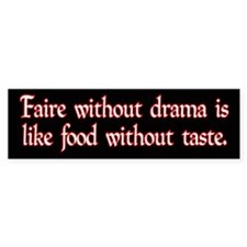 """food without taste"" bumper sticker"