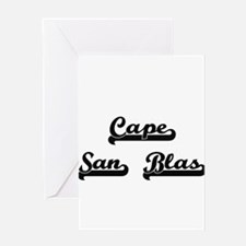 Cape San Blas Classic Retro Design Greeting Cards