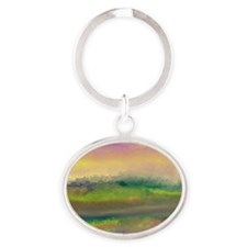 The Creek Bed Oval Keychain