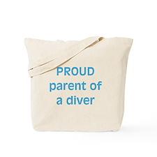 Proud parent of a Diver Tote Bag