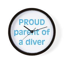 Proud parent of a Diver Wall Clock