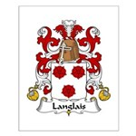 Langlais Family Crest Small Poster