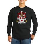 Langlais Family Crest Long Sleeve Dark T-Shirt