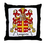 Langevin Family Crest Throw Pillow