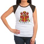 Langevin Family Crest Women's Cap Sleeve T-Shirt