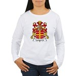 Langevin Family Crest Women's Long Sleeve T-Shirt