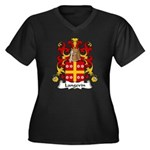 Langevin Family Crest Women's Plus Size V-Neck Dar