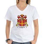 Langevin Family Crest Women's V-Neck T-Shirt
