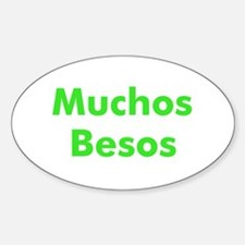 Muchos Besos Oval Decal