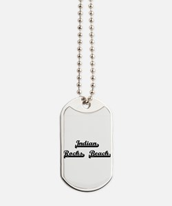 Indian Rocks Beach Classic Retro Design Dog Tags