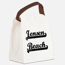 Jensen Beach Classic Retro Design Canvas Lunch Bag