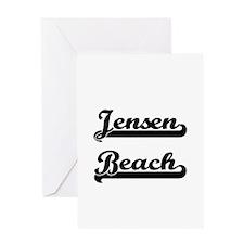 Jensen Beach Classic Retro Design Greeting Cards