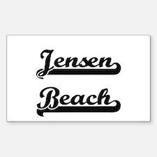 Jensen Beach Classic Retro Design Decal