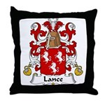 Lance Family Crest Throw Pillow