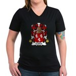 Lance Family Crest Women's V-Neck Dark T-Shirt
