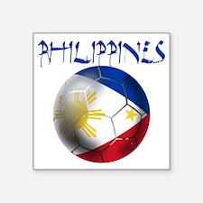 "Philippines Football Square Sticker 3"" x 3"""