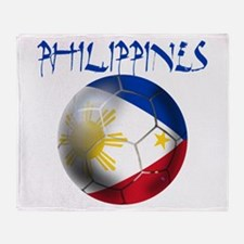 Philippines Football Throw Blanket