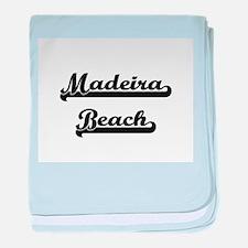 Madeira Beach Classic Retro Design baby blanket