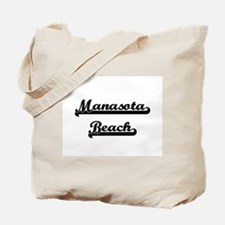 Manasota Beach Classic Retro Design Tote Bag