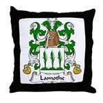 Lamothe Family Crest Throw Pillow