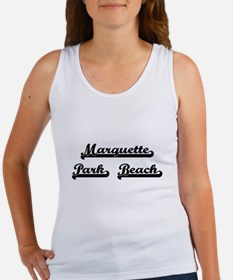 Marquette Park Beach Classic Retro Design Tank Top