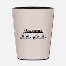 Marquette Park Beach Classic Retro Desi Shot Glass