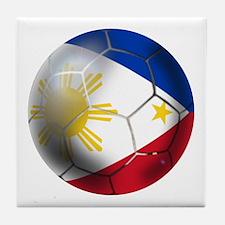 Philippines Soccer Ball Tile Coaster