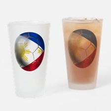 Philippines Soccer Ball Drinking Glass