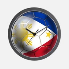 Philippines Soccer Ball Wall Clock